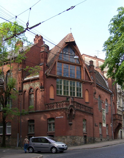 Image -- The Oleksa Novakivsky memorial museum in Lviv.