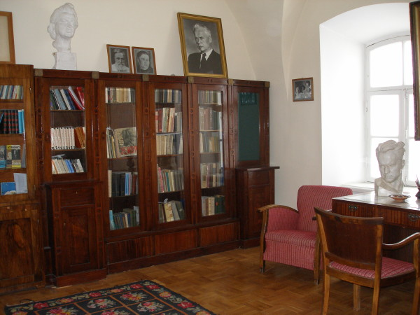 Image - Oleksander Dovzhenko memorial room at Central State Archive-Museum of Literature and Art in Kyiv.