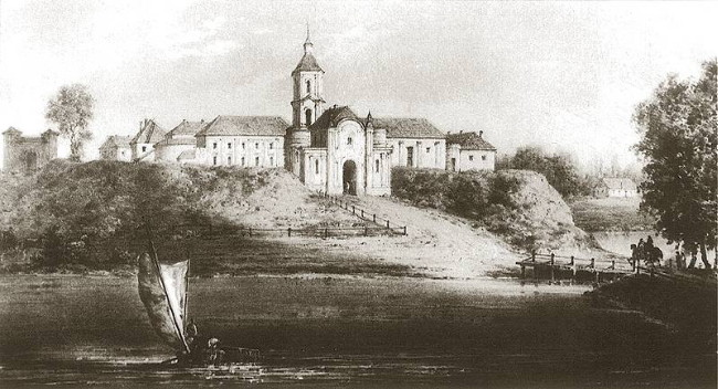 Image - A view of the Olyka castle on 19th-century engraving by Napoleon Orda.