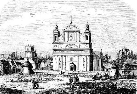 Image - A view of Olyka on 19th-century engraving.