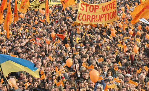 Image - The Orange Revolution (Kyiv, 2004): demonstration.