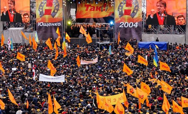 Image - The Orange Revolution: demonstration.