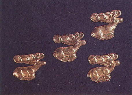 Image - Ornament: stylized deer on Scythian gold plaques (6 century BC; Museum of Historical Treasures of Ukraine, Kyiv).