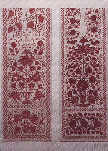 Image -- Ornament: Tree of Life on embroidered rushnyk (early 20th century) from the Kirovohrad region.