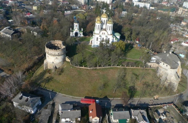 Image - Ostrih castle (aerial view).