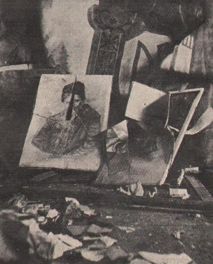Image - Pacification in Galicia, 1930: Prosvita reading room in Kniahynychi demolished by Polish gendarmes.