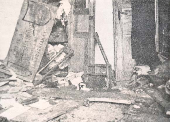 Image - A Ukrainian co-operative in Kadlubyska (today: Luchkivtsi), Brody county, demolished during the Pacification.