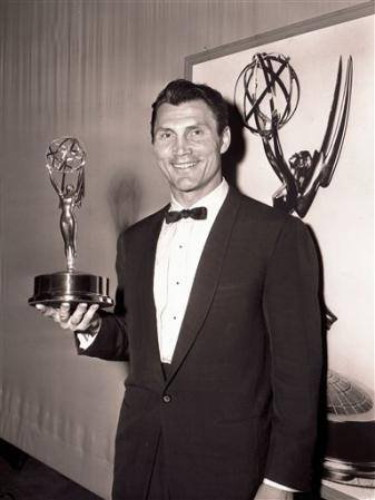 Image -- Jack Palance with the Emmy Award (1957).