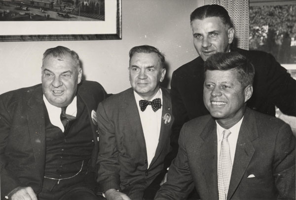 Image - John Panchuk (first from left) with President John F. Kennedy.