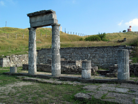 Image -- The ruins of Panticapaeum, the former capital of the Bosporan Kingdom. Near Kerch in the Crimea.