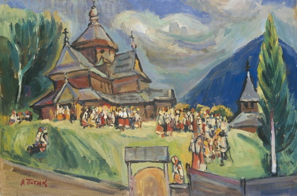 Image - Volodymyr Patyk: Peasants near a Church.