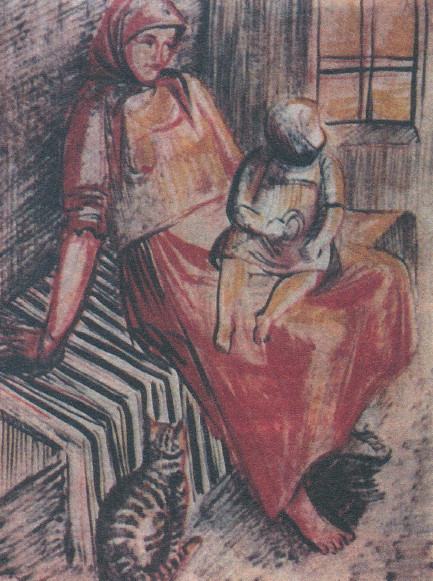 Image - Oksana Pavlenko: Peasant Woman with Child (1926-27).