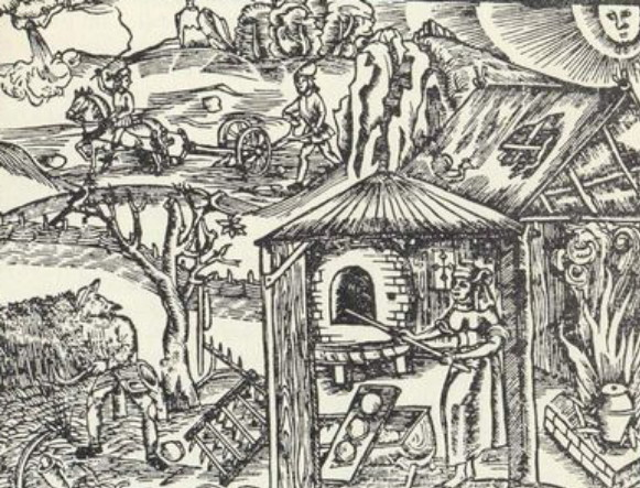 Image - Peasants on a 16th century woodcut.
