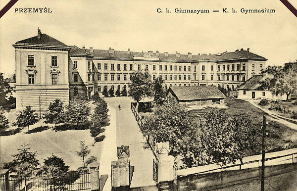 Image - Peremyshl (Przemysl) State Gymnasium (early 20th-century postcard).