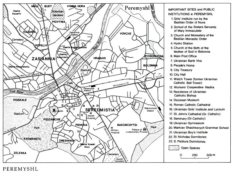 Image - Peremyshl (Przemysl): general city map.