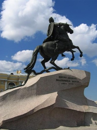 Image - A monument of Tsar Peter I in Saint Petersburg.