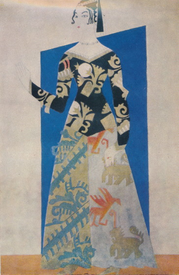 Image - Anatol Petrytsky: Donna Anna (costume) for Lesia Ukrainka's play The Stone Host (1921).