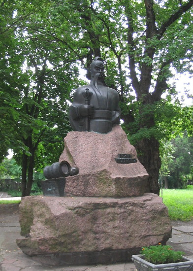 Image - A monument of Ivan Pidkova in Cherkasy.