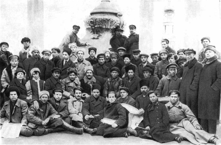 Image -- Members of the Pluh writers' union (Kharkiv, 1923)