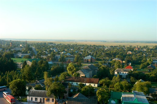 Image - Panorama of Pochaiv seen from the Pochaiv Monastery.