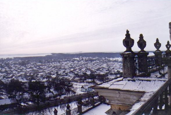 Image - View of Pochaiv from the Pochaiv Monastery.