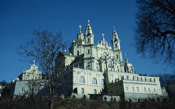 Image -- The Dormition Cathedral (1771-83) of the Pochaiv Monastery.