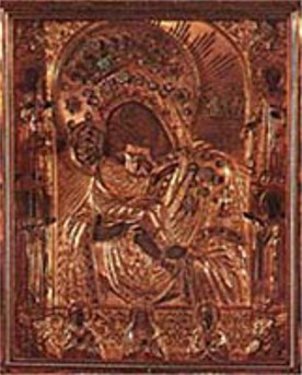 Image -- Pochaiv Monastery's miracle-working icon.