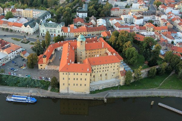 Image - Podebrady castle (aerial view).
