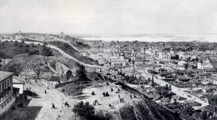 Image - Panorama of the Podil district in Kyiv (1880 photo).