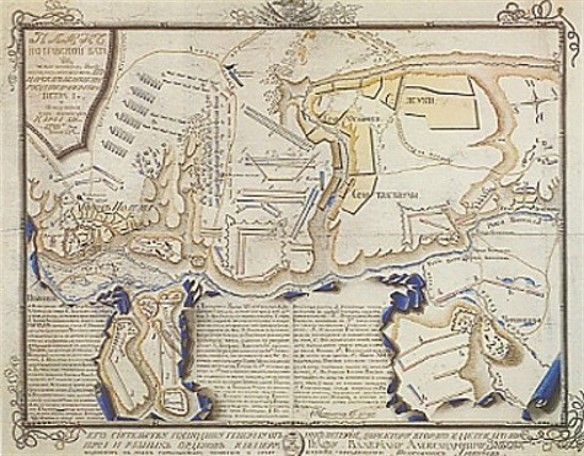 Image - 18-th century Russian map of the Battle of Poltava