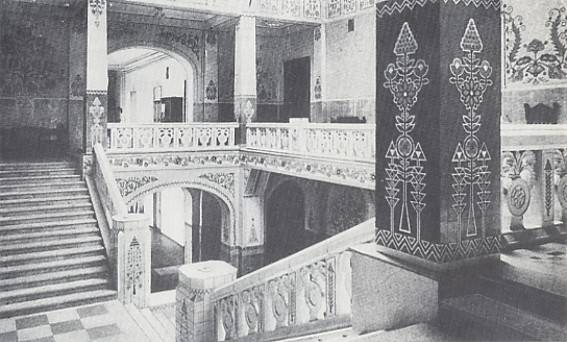Image - The main stairway in the Poltava Zemstvo Building designed by Vasyl H. Krychevsky in 1903-1907.