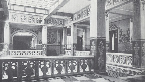 Image - The second floor lobby in the Poltava Zemstvo Building designed by Vasyl H. Krychevsky in 1903-1907.