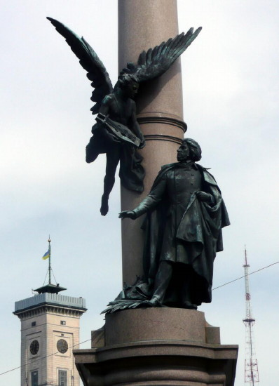 Image - Adam Mickiewicz monument Lviv (designed by Antin Popel and Mykhailo Parashchuk).
