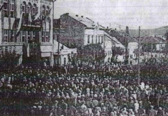 Image - The ceremony of the blessing of the Prosvita society's People's Home in Uzhhorod (7 October 1928).