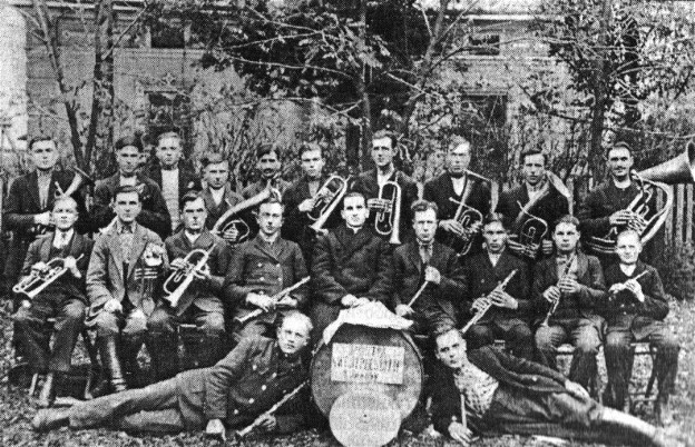 Image - The Prosvita marching band in the village of Ilavche (1890s).