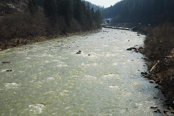 Image - The Prut River in its upper reaches.
