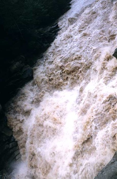 Image - A waterfall on th Prut River near Yaremche.