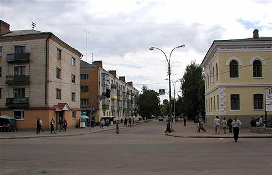 Image - Pryluka: one of the streets in the central part of the city.