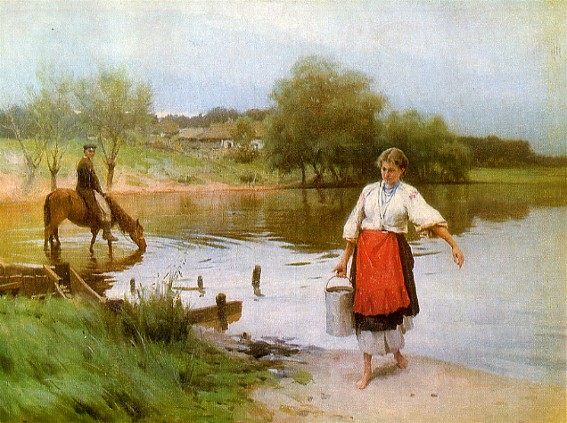 Image - Mykola Pymonenko: At the River.