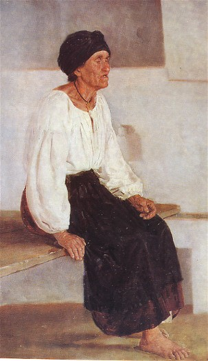 Image - Mykola Pymonenko: A Blind Old Woman (1888).