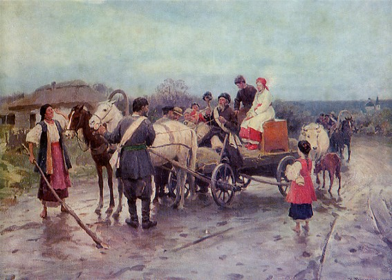 Image - Mykola Pymonenko: Buying out the Bride.