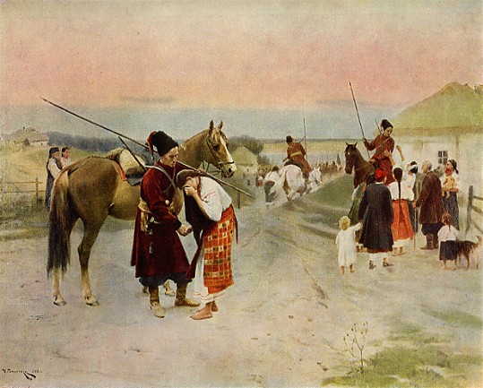 Image - Mykola Pymonenko: Off to War (1902).