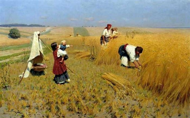 Image - Mykola Pymonenko: Harvest Gathering in Ukraine.