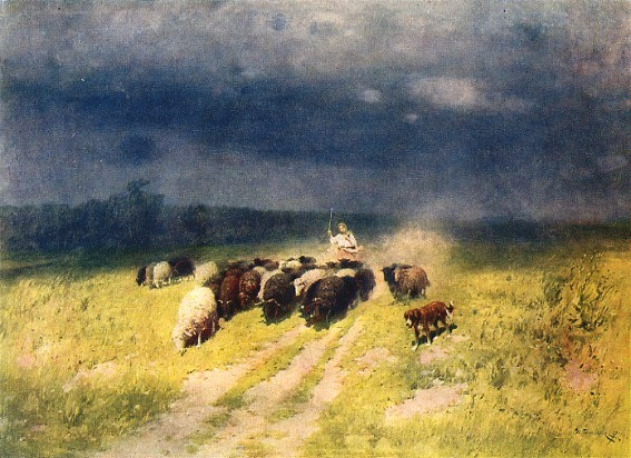 Image - Mykola Pymonenko: Before the Storm (1906).