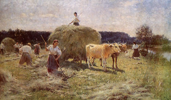 of scenes from everyday life ukrainian genre painting usually depicts