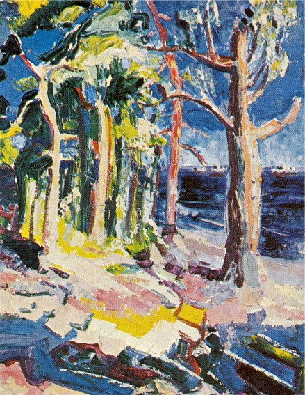 Image - Myroslav Radysh: Trees on the Shore (1953).