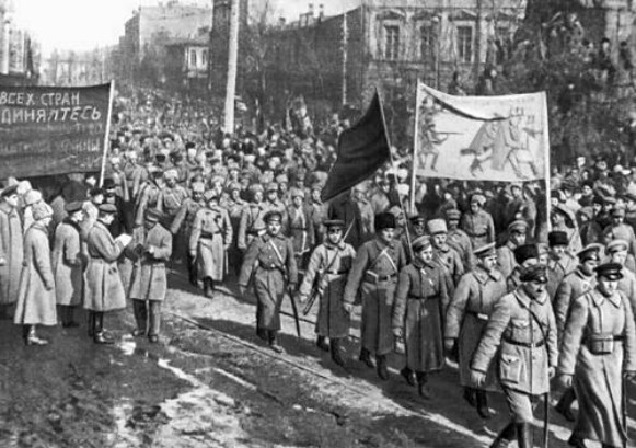 The Red Army soldiers in Kyiv (1919)