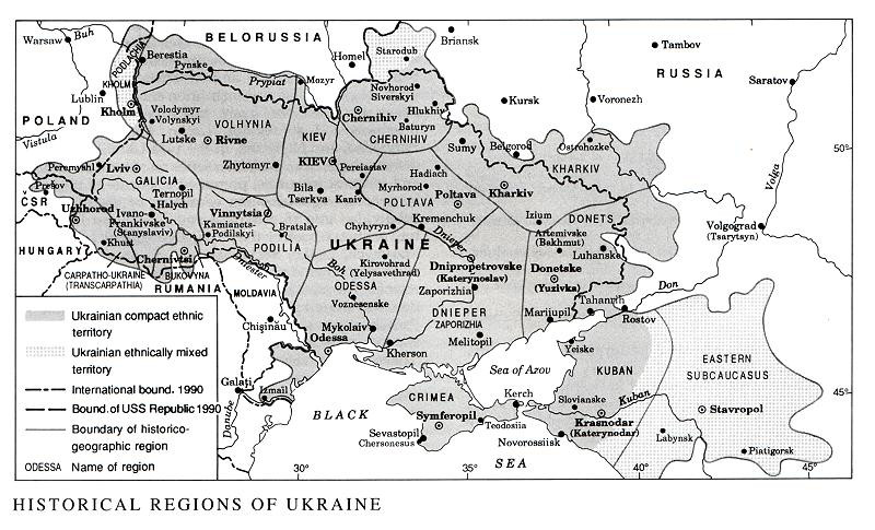 Image from entry Regions of Ukraine in the Internet Encyclopedia of Ukraine
