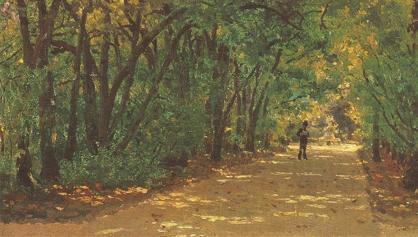 Image - Ilia Repin: An Avenue in the Kachanivka Park (1880).