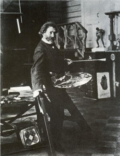 Image - Ilia Repin in his studio (1906 photo).